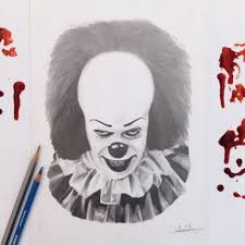 it stephen king it pennywise the clown horror print