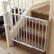Baby Gate Stairs Banister Baby Gate Installation At Bottom Of Stairs With Custom Banister