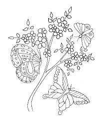 coloriage de fleurs et papillons  Tête à modeler