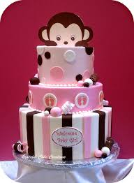 baby shower cake cakes u0026 cupcakes cakes monkey