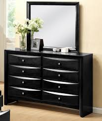 black dressers for bedroom crown mark crown mark furniture emily dresser in black b4280 1