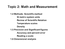 topic 2 math and measurement download the topic outline