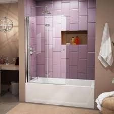 Cheap Shower Door Shower Doors For Bathtubs Platinum Riviera Series Prese 5 16