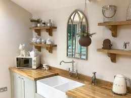 kitchen with white cabinets and wood countertops choosing wooden work tops for improved kitchen interior