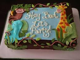 jungle baby shower cake 8 jungle theme baby shower sheet cakes photo jungle baby shower