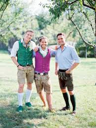 wearing tracht traditional austrian clothing style