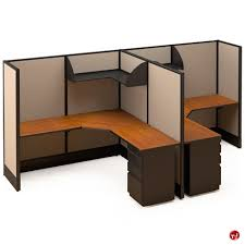 Office Cubicle Desk 2 Person Office Desk Picture Of 2 Person L Shape Electrified