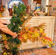 show me a personalized fall fireplace show me decorating
