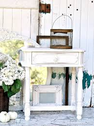 Spray Paint White - have a white spray paint and distressing party petticoat junktion
