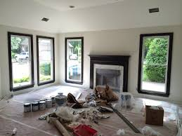White Walls Grey Trim by And Use Black Forest On The Walls And Pewter Grey On The Ceiling