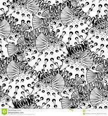 graphic puffer fish pattern stock vector image 71117657