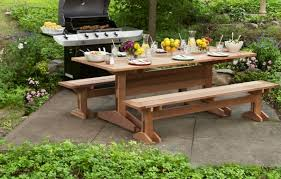 Make Your Own Picnic Table Bench by How To Build A Picnic Table And Benches This Old House