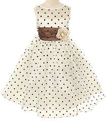 amazon com kids dream girls organza polka dot special occasion