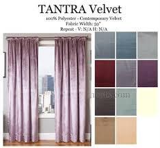 Velvet Curtains Tantra Velvet Curtain Panel Available In 10 Colors