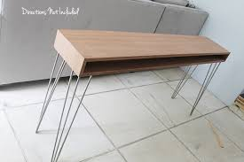 Mid Century Console Table A Diy Midcentury Console Table Directions Not Included