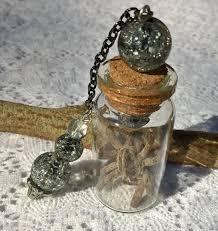 preserved glass vial spider specimen pendant by allykattrinkets