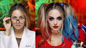 Halloween Glamour Makeup Harley Quinn Squad Glam Makeup Tutorial Youtube