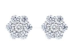 cluster stud earrings diamond flower cluster stud earrings be on park designer jewelry