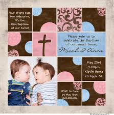twin baptism invitation photos event double party