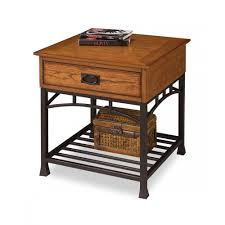 modern craftsman distressed oak end table homestyles