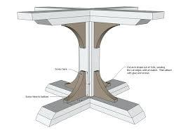 pedestal table base ideas pedestal table base diy designs wood tablecosmos signature image