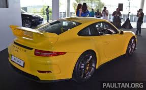 porsche 911 turbo malaysia porsche 911 gt3 launched in malaysia rm1 23 mil