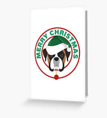 boxer dog xmas boxer dog christmas cards by yuckles