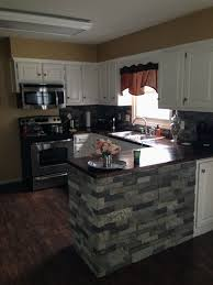airstone backsplash and island super easy to do for the home