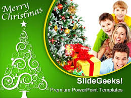 merry family festival powerpoint template 1010