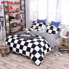high quality wholesale black white striped bedding from china