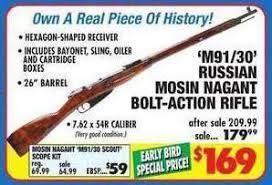 big 5 sporting goods black friday m91 30 russian mosin nagant hex bolt action rifle 169 black