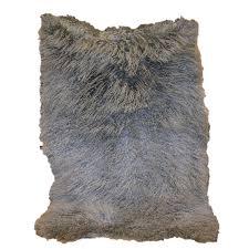 Real Fur Blankets Glacier Wear Fur Plate Blankets
