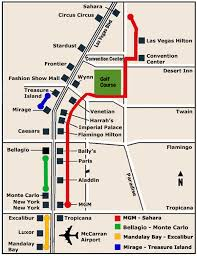 las vegas light rail las vegas strip map 4 maps of attractions hotels monorail