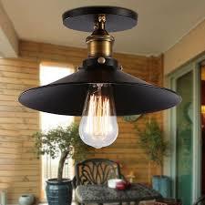 industrial semi flush mount lighting industrial energy efficient flush mount ceiling lights black metal