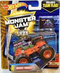 Amazon Com Wheels Monster Jam 2017 Team Flag Grave Digger