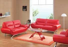 furniture cute red sofa with glossy candy tone finishing fits