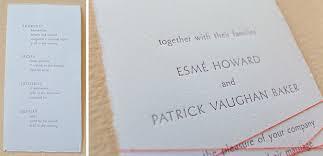 Modern Wedding Programs Minimalist Wedding Program And Info Card Tiny Pine Press