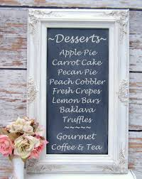chalkboards for weddings framed chalkboard magnetic blackboard