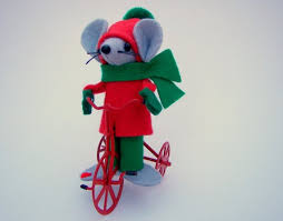 christmas mouse ornament on a trike one of the cute by warmth