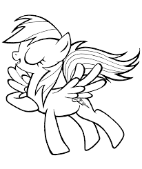 rainbow dash coloring pages download print free