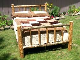 Wood Log Bed Frame Size Log Bed Bed Size Bed Frame Log Bed Frame Wood