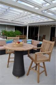 Patio Bar Height Table And Chairs by Teak Bar Height Table Foter