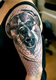 bear head tattoo idea
