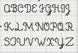 alphabet patterns for cross stitch and back stitch