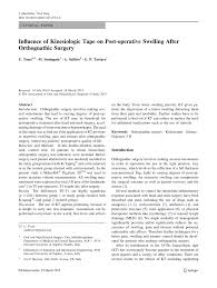 influence of kinesiologic tape on post operative swelling after