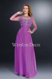 neck chiffon purple color rhinestone plus size evening dress on sale
