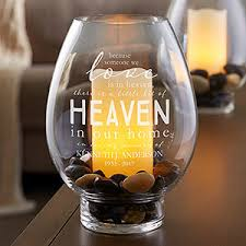 Hurricane Candle Holders Memorial Engraved Glass Hurricane Candle Holder