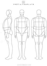 man male body figure fashion template d i y your own fashion