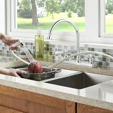 polished chrome henlow 2 handle kitchen faucet f 036 4hlc