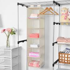 on the shelf accessories hanging closet organizer maidmax collapsible hanging